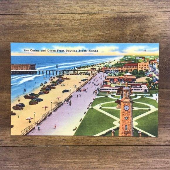 Vintage Other - Vintage Florida Daytona Linen Souvenir Postcard